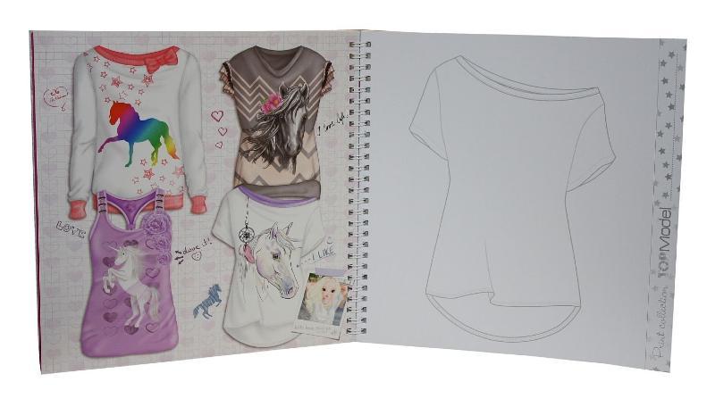 Album de coloriage t shirt top model loisir cr atif top - Album de coloriage top model ...