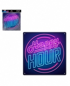 Plaque de porte Happy Hour