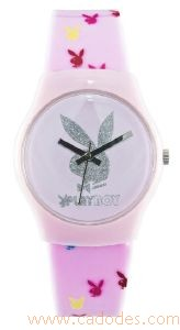 Montre Playboy rose Bunny multicouleurs