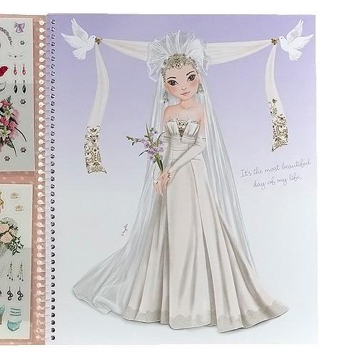 Album de coloriage top model cadeau jeune fille - Coloriage top model a habiller ...