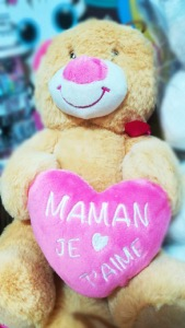 Peluche Ours Maman Je t'aime