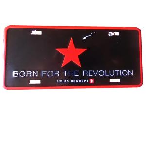 Plaque de porte Born For The Revolution