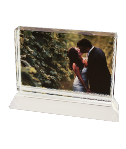 Cadre photo cristal rectangle personnalisé