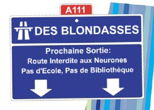 Plaque de Porte Autoroute Blondasses